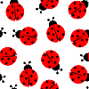 Ladybug seamless pattern | Stock Vector Graphics