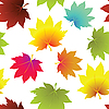 Vector clipart: autumn leaves seamless pattern