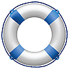 Vector clipart: life buoy blue