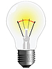 Vector clipart: light bulb against white