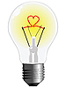 Vector clipart: light bulb with heart