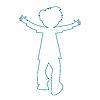 Векторный клипарт: контур мальчика