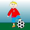 Little football player | Stock Vector Graphics