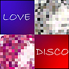 Vector clipart: love disco