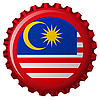 Vector clipart: malaysia abstract flag on bottle cap