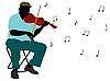 Vector clipart: man playing violin