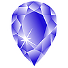 Vector clipart: marquise stone against white
