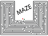 Vector clipart: maze against white