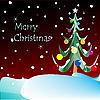 Vector clipart: merry christmas card