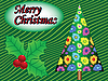 Vector clipart: merry christmas tree card