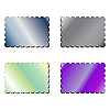 Vector clipart: metallic postage stamps