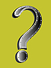 Vector clipart: metallic question mark