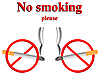 Vector clipart: no smoking stylized signs