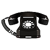 Vector clipart: black old telephone