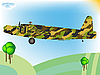 Vector clipart: old military airplane