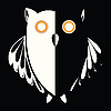 Vector clipart: retro owl in the night