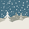 Vector clipart: winter illustration card