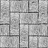 Vector clipart: parquet small texture black and white