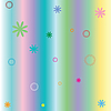Vector clipart: pastel stripes and flowers