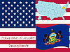 Vector clipart: pennsylvania state illustration