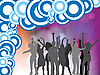 Vector clipart: people disco background