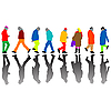 Vector clipart: people silhouettes against white