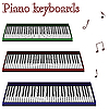Vector clipart: piano keyboards against white