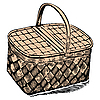 Vector clipart: picnic basket