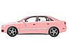 Vector clipart: pink auto against white