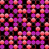Vector clipart: pink bubbles background