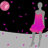 Vector clipart: pink dress