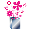 Vector clipart: pink flowers arrangement