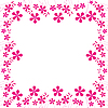 Vector clipart: pink flowers foliage 2