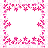 Vector clipart: pink flowers foliage