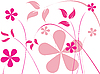 Vector clipart: pink flowers