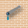 Vector clipart: pipe and wall