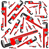 Vector clipart: pipe wrench pattern