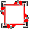 Vector clipart: pipe wrench photo frame