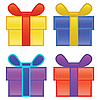 Vector clipart: present boxes
