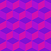 Vector clipart: psychedelic pattern mixed purple
