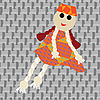 Vector clipart: puppet little girl