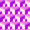 Vector clipart: purple abstract cubes