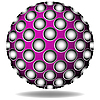 Vector clipart: purple abstract sphere