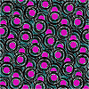Vector clipart: purple and black circle pattern