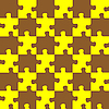 Vector clipart: puzzle brown and yellow