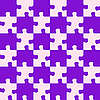 Vector clipart: puzzle mixed purple colors