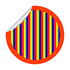 Vector clipart: rainbow stripes sticker isolated on white