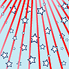 Vector clipart: rays and stars