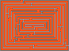 Vector clipart: rectangular maze