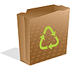 Vector clipart: recycling paper bag